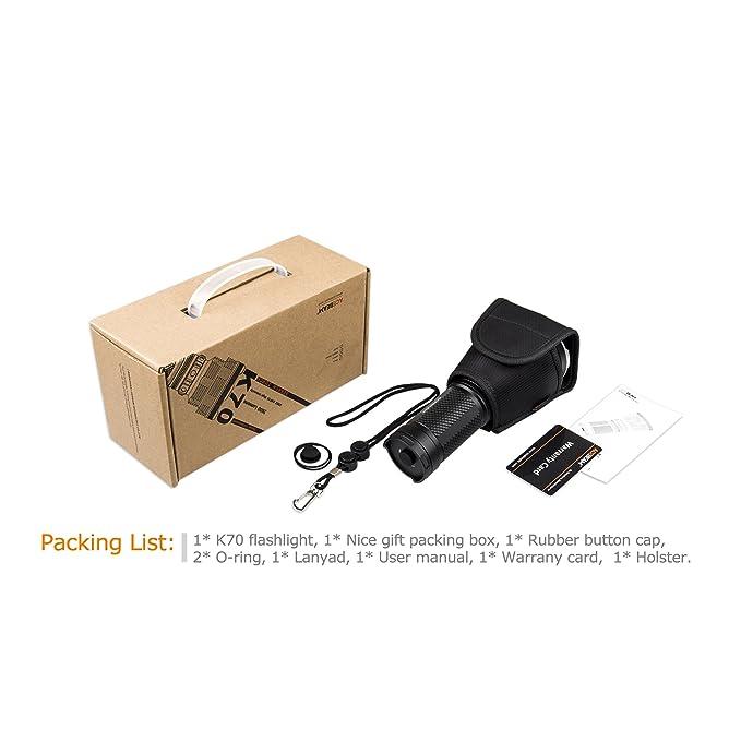 Linterna LED Acebeam K70 CREE xhp35 Hi 2600 lm, alcance 1300 m: Amazon.es: Bricolaje y herramientas