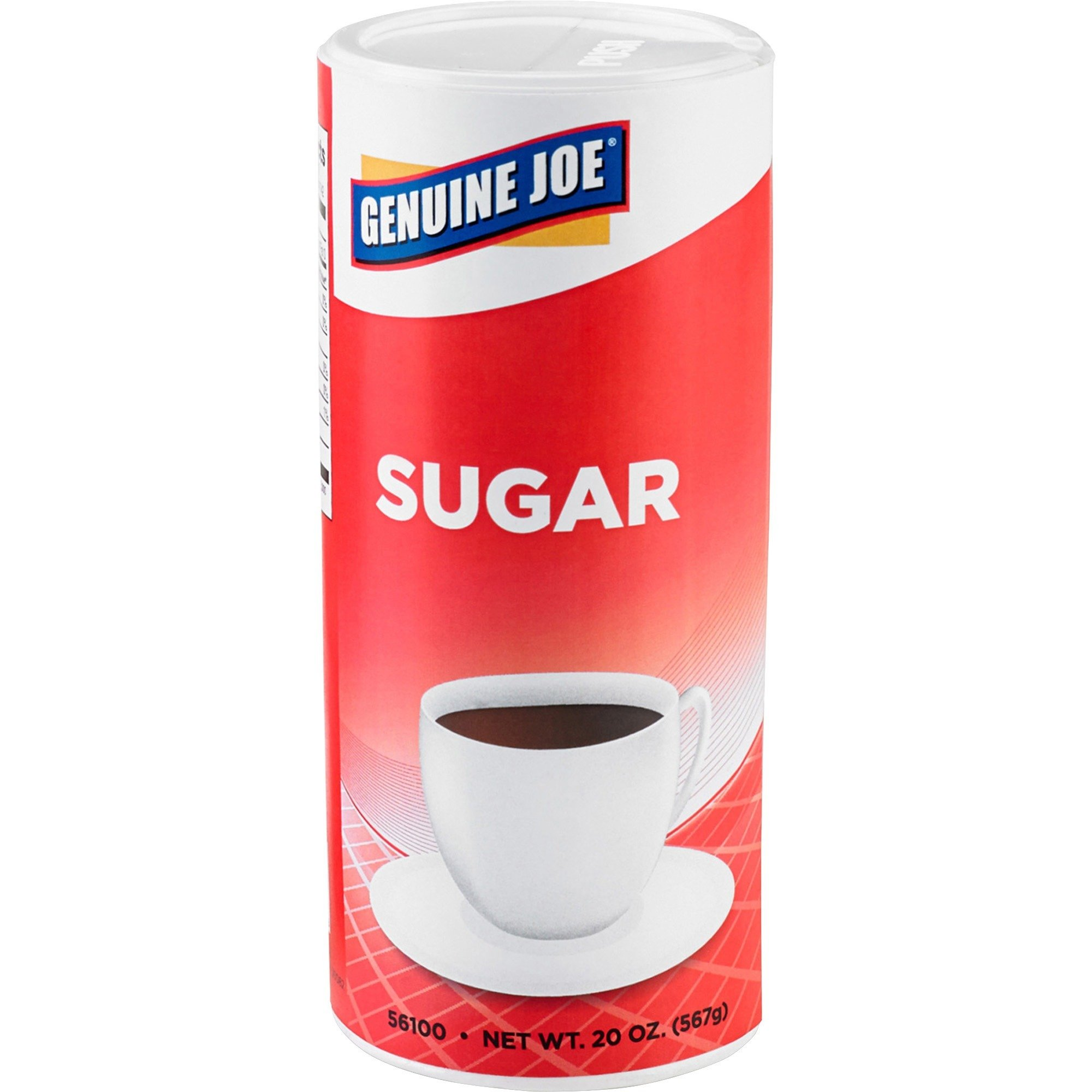 Genuine Joe GJO56100CT Natural Sweetener Pure Cane Sugar, 20 oz Canister (8 Packs of 3) by Genuine Joe