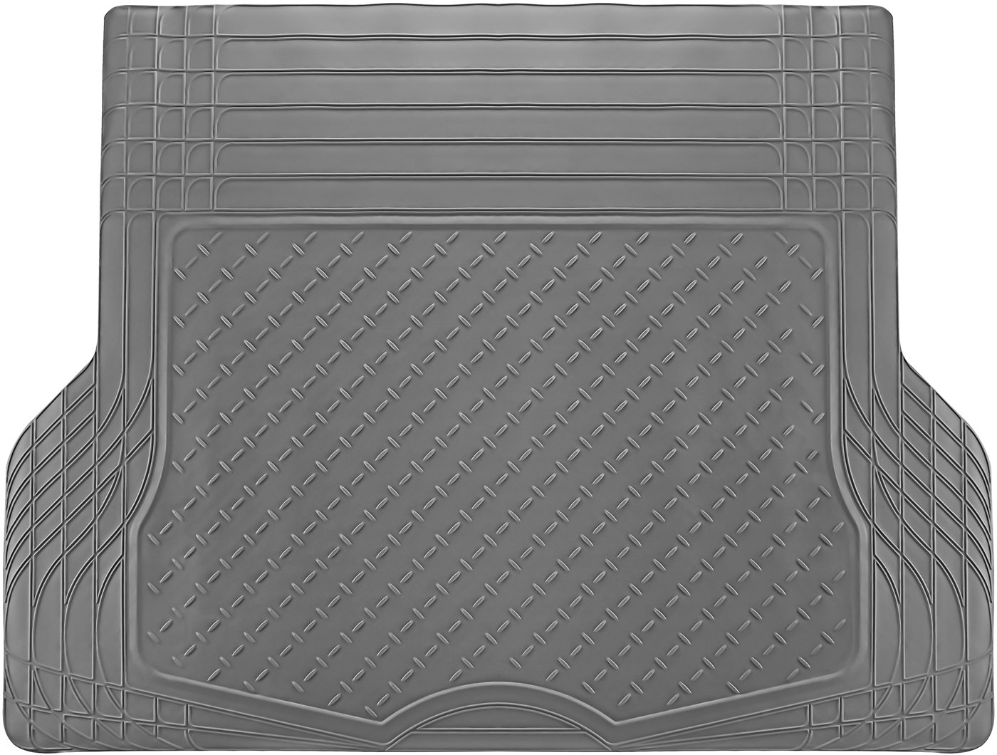 OxGord WeatherShield HD Rubber Trunk Cargo Liner Floor Mat, Trim-to-Fit for Car, SUV, Van, Trucks Black TLPV01CQ-BK