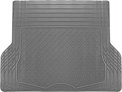 OxGord WeatherShield HD Heavy Duty Rubber Trunk Cargo Liner Floor Mat,  Trim-to-Fit for Car, SUV, Van & Trucks (Gray)