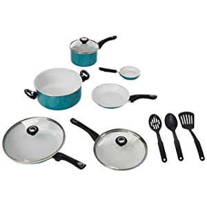 Farberware 17494 Ceramic Nonstick Cookware, 12 Piece<br />
