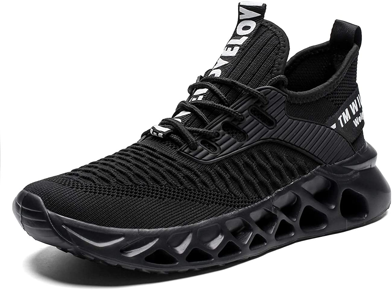 Kvovzo Mens Running Shoes Mesh Breathable Sneakers Lightweight Tennis Sport Casual Walking Athletic for Men Volleyball Workout