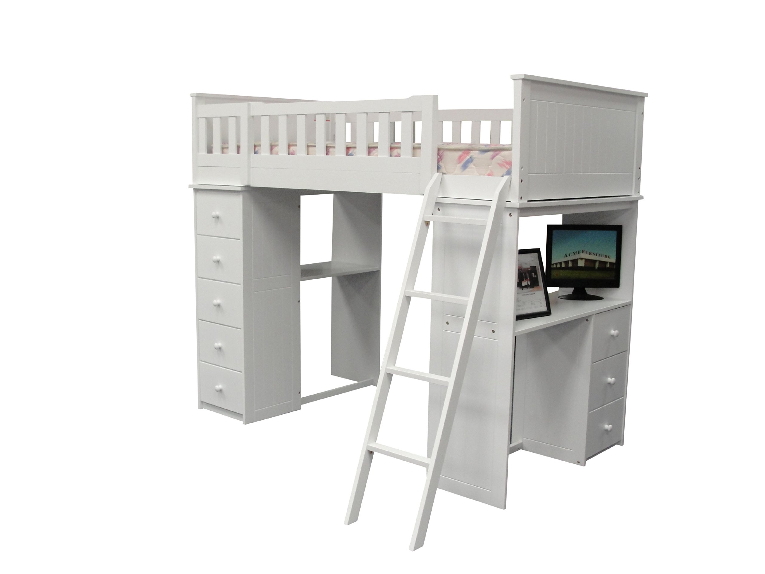ACME Willoughby White Loft Bed by acme