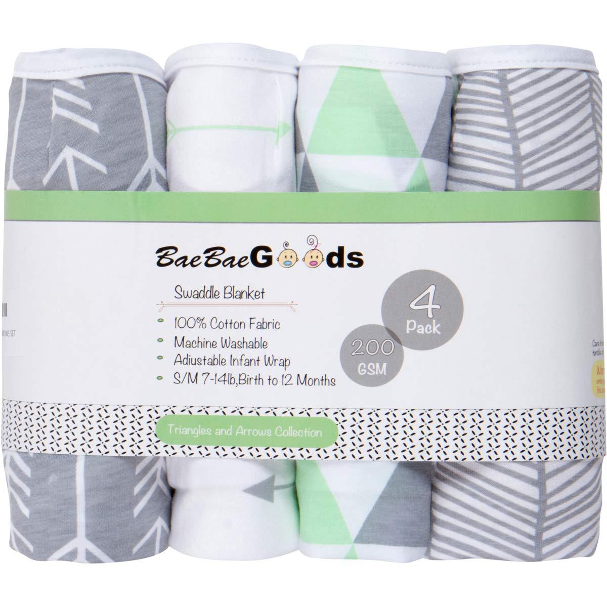 Amazon.com: BaeBae Goods - Juego de 4 mantas para bebé ...