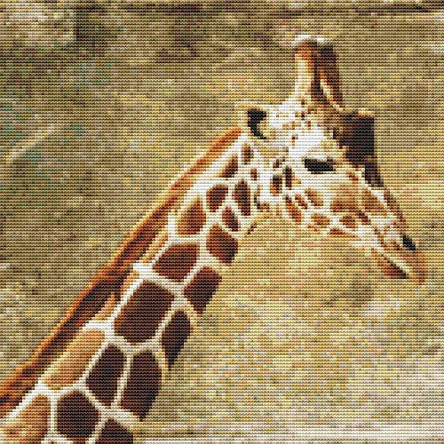 Giraffe Painting Cross Stitch Pattern