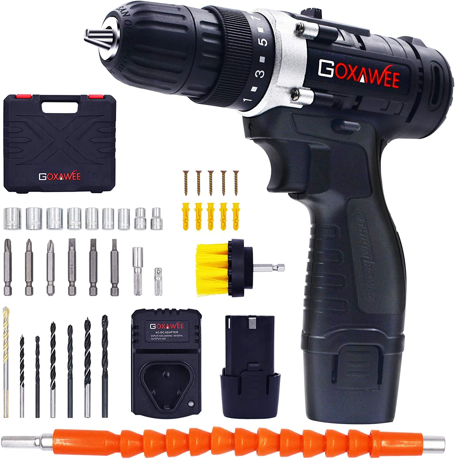 Cordless Drill with 2 Batteries