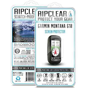 Ripclear Garmin Montana 610 GPS Screen Protector Kit - Scratch-Resistant, Smooth Touch,