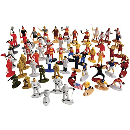US Toy Pretend Play People Figures Assortment / 60 Pcs
