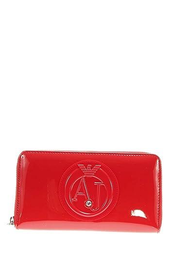 Armani Jeans 55 05 V32 4L de Portefeuille Portefeuille Femme - Rouge -  Taille unique 447f40a800e
