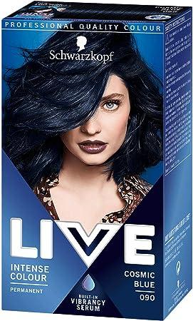1 x Schwarzkopf Live Color XXL Colour Intense coloración permanente 90 Cosmic Blue