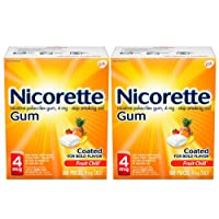 Nicorette 4 mg Nicotine Gum to Quit Smoking - Fruit Chill Flavored Stop Smoking Aid, 160 Count (Pack of 2)