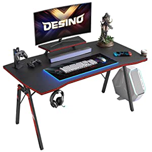 DESINO Gaming Workstation with Cup Holder