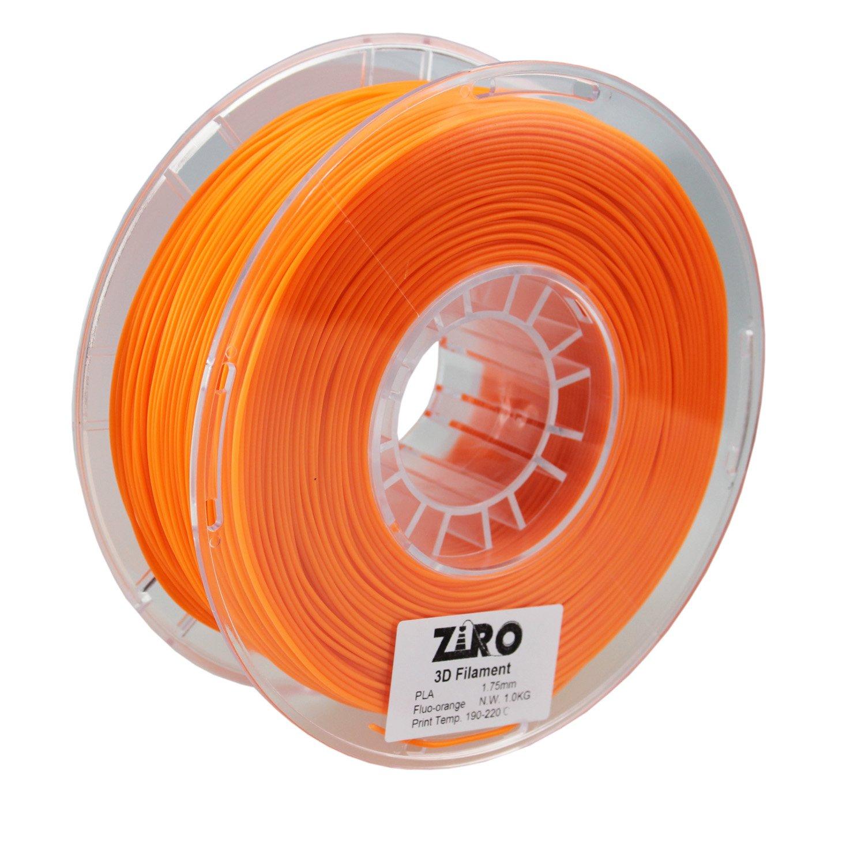 ZIRO 3D Printer Filament PLA 1.75 1KG(2.2lbs), Dimensional Accuracy +/- 0.05mm, Fluo orange