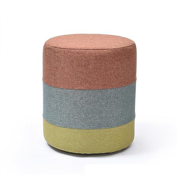 Amazon.com: Taburete de madera maciza de color optativo ...