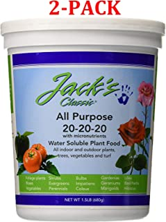 product image for Jacks Classic No.1.5 20-20-20 All Purpose Fertilizer - 52024 (1.5 Pounds, 2-Pack)