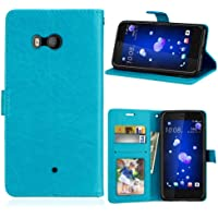 zl one Compatible con/Reemplazo para Funda HTC U11 Case,Bookstyle 3 Card Slot PU Cuero Cartera para TPU Silicone Case…