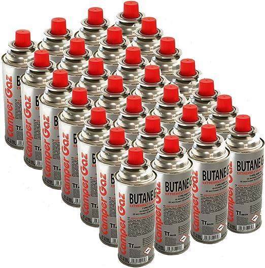 Pack de 28 cartucho gas Camper Gas 227 gr butano – Botella de ...