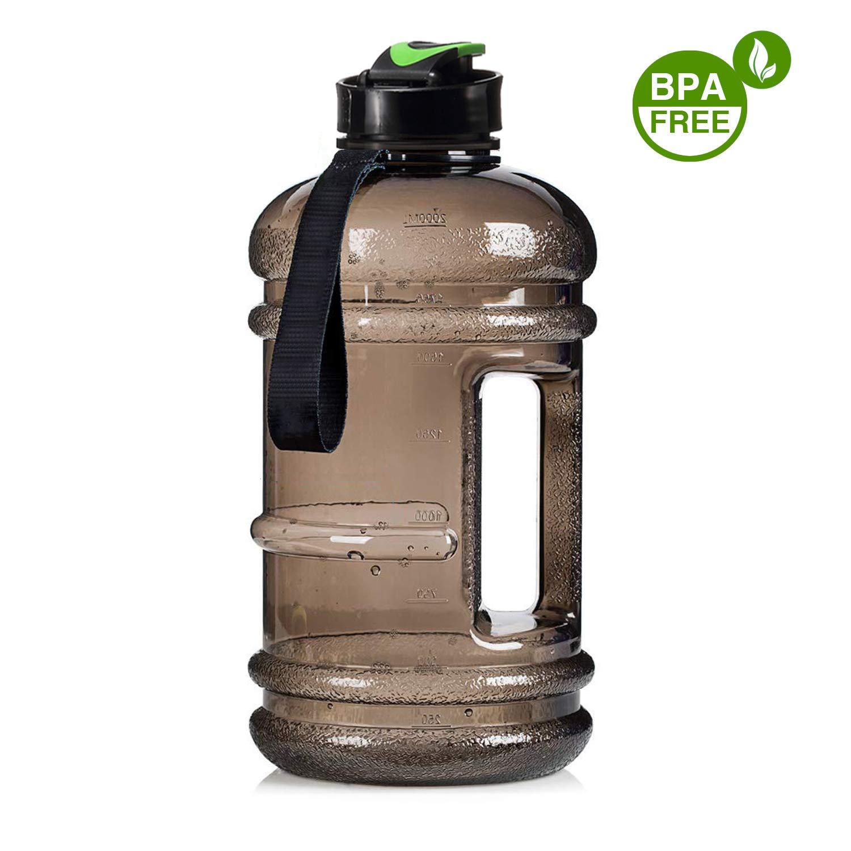 人気定番 Dulcii Dulcii 2.2l大容量ポータブルスポーツウォーターボトルハンドル、BPAフリージムボトルプラスチック漏れ防止飲料水水差しコンテナ – – ブラック ブラック B07BDG7SWC, ストロングスポーツ:6a3826b6 --- a0267596.xsph.ru