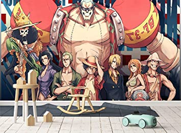 Mural Wallpaper Anime 3d Silk Cloth Room Tv Background Wall Paper Decoration One Piece Monkey D Luffy 250x200cm Wxh Amazon Co Uk Diy Tools