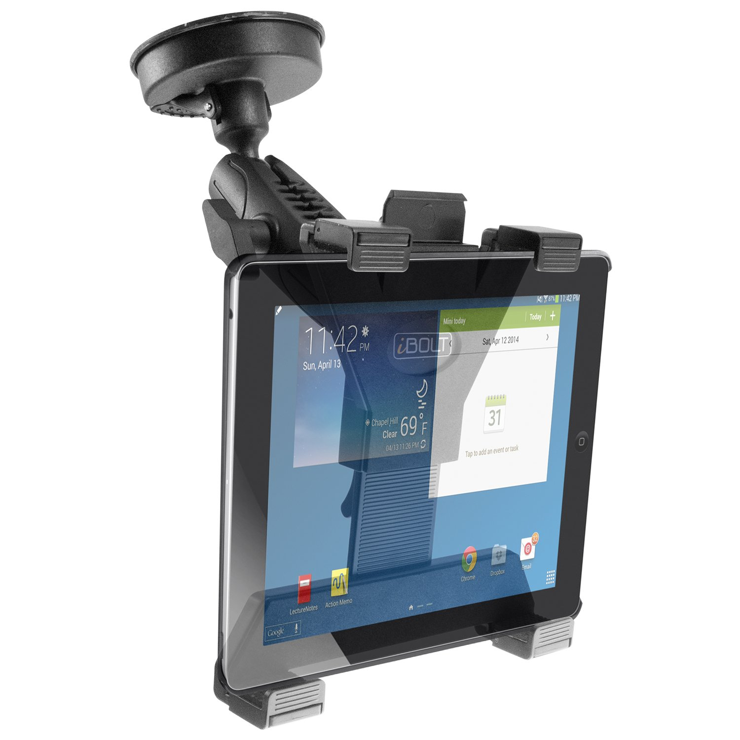Great for Work Personal and Business Vehicles Heavy Duty Vehicle Console Mount for All 7-10 Tablets iPad, Nexus, Samsung Tab iBOLT TabDock Bizmount Wedge