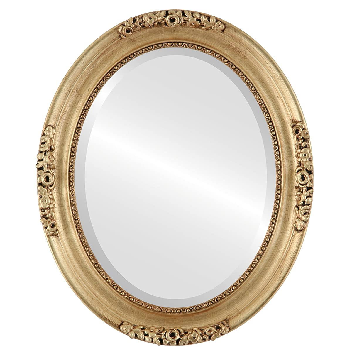 Oval Beveled Wall Mirror for Home Decor - Versailles Style - Gold Leaf - 16x20 outside dimensions