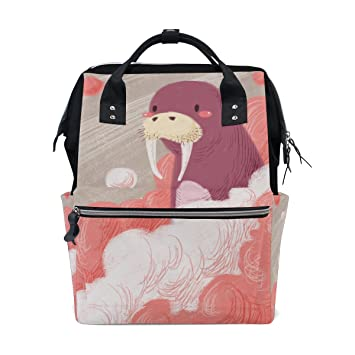 Diaper Bags Backpack Purse Mummy Backpack Nappy Bag Cool Cute Travel  Backpack Laptop Backpack with Sea 10ca10845ae18