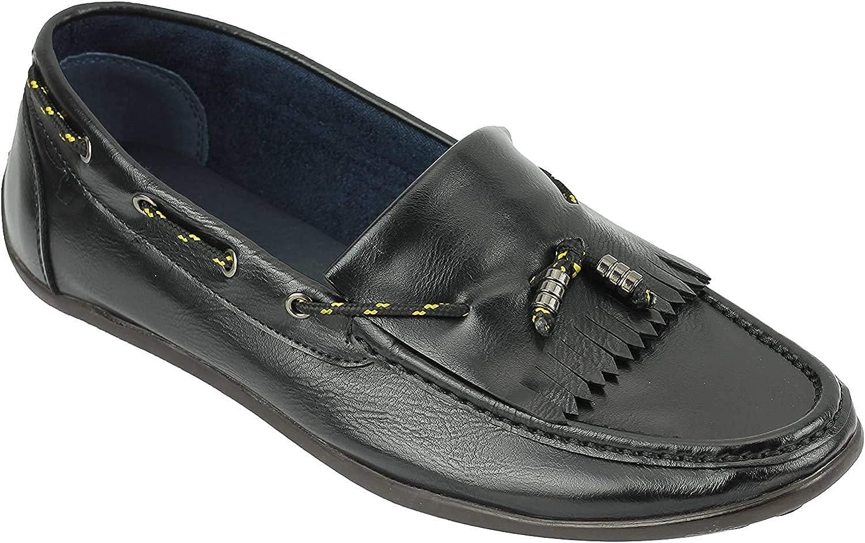 Imitación De Cuero De Los Nuevos Hombres Xposed Retro Escotado Kilted Los Holgazanes De La Vendimia Que Conduce Los Zapatos En Negro, Marrón