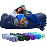 AlphaBeing Inflatable Lounger - Best Air Lounger Sofa for Camping, Hiking - Ideal Inflatable Couch for Pool and Festivals - P