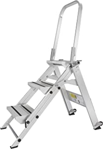 Xtend & Climb WT3 Professional Series Folding Step Stool with Handrail, 3-Step