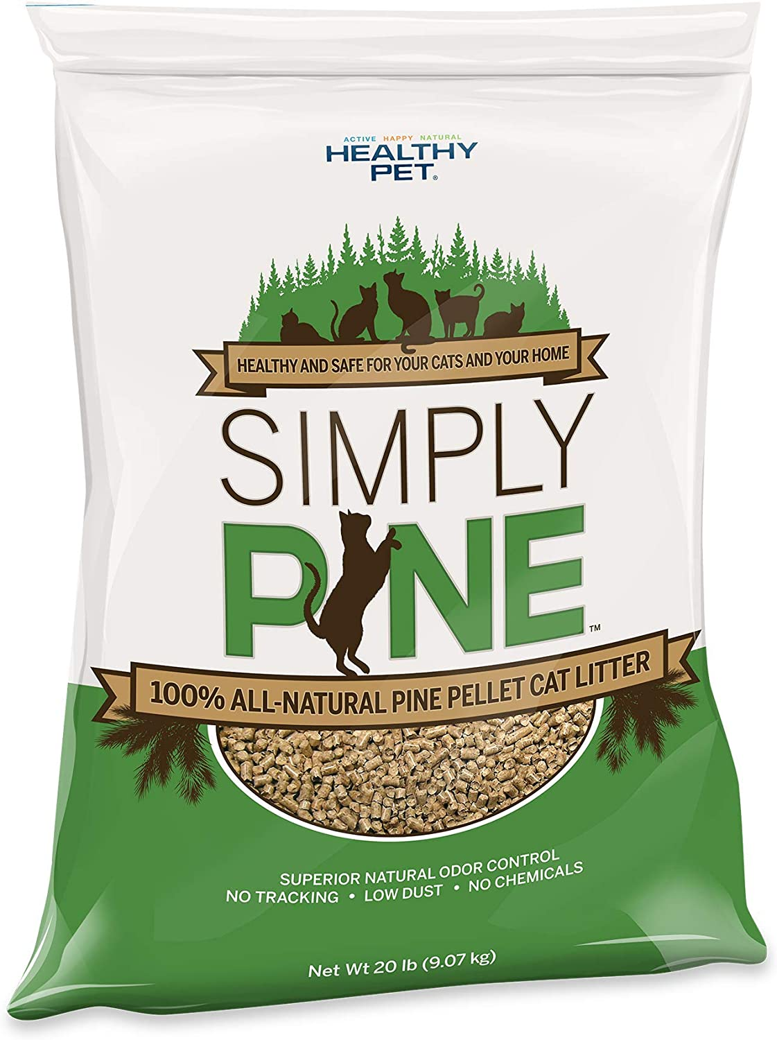 Simply Pine Natural Cat Litter, 20 lb