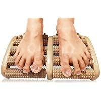 TheraFlow Dual Foot Massager Roller (Large). Relieve Plantar Fasciitis, Stress,...