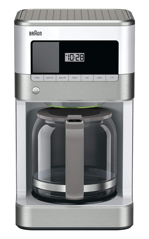 Braun KF6050WH Brewsense Drip Coffee Maker, 12-Cup (white) (Renewed)