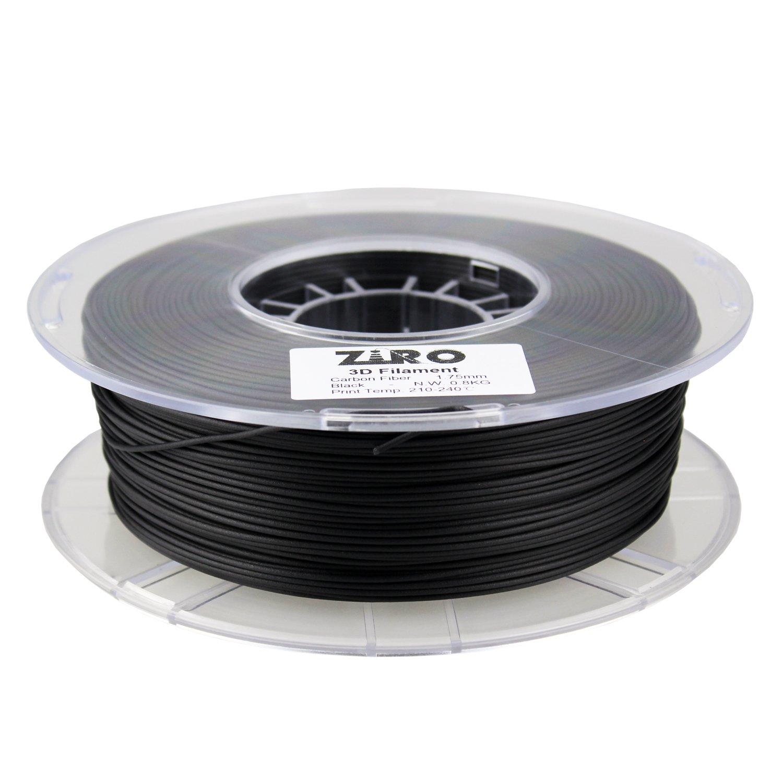 3d Printers & Supplies Ziro 3d Printer Filament Carbon Fiber Pla 1.75mm 0.8kg Spool Black 3d Printer Consumables