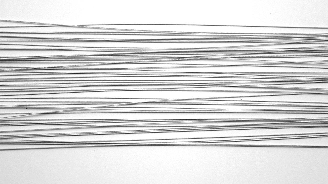 M/étal Blanc 0,1 x 0,1 x 36 cm PME FW126 Set de 50 Fils pour Fleurs