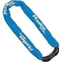 MASTER LOCK 8392EURDPROCOLB Candado, Combinación, 90 cm Cadena, Azul, Electrica, Bicicleta Montaña