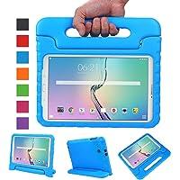 Capa Tablet Samsung Galaxy Tab E 9.6 Polegadas T560 T561 T565 Anti Impacto Infantil com Alça Apoio Maleta Azul