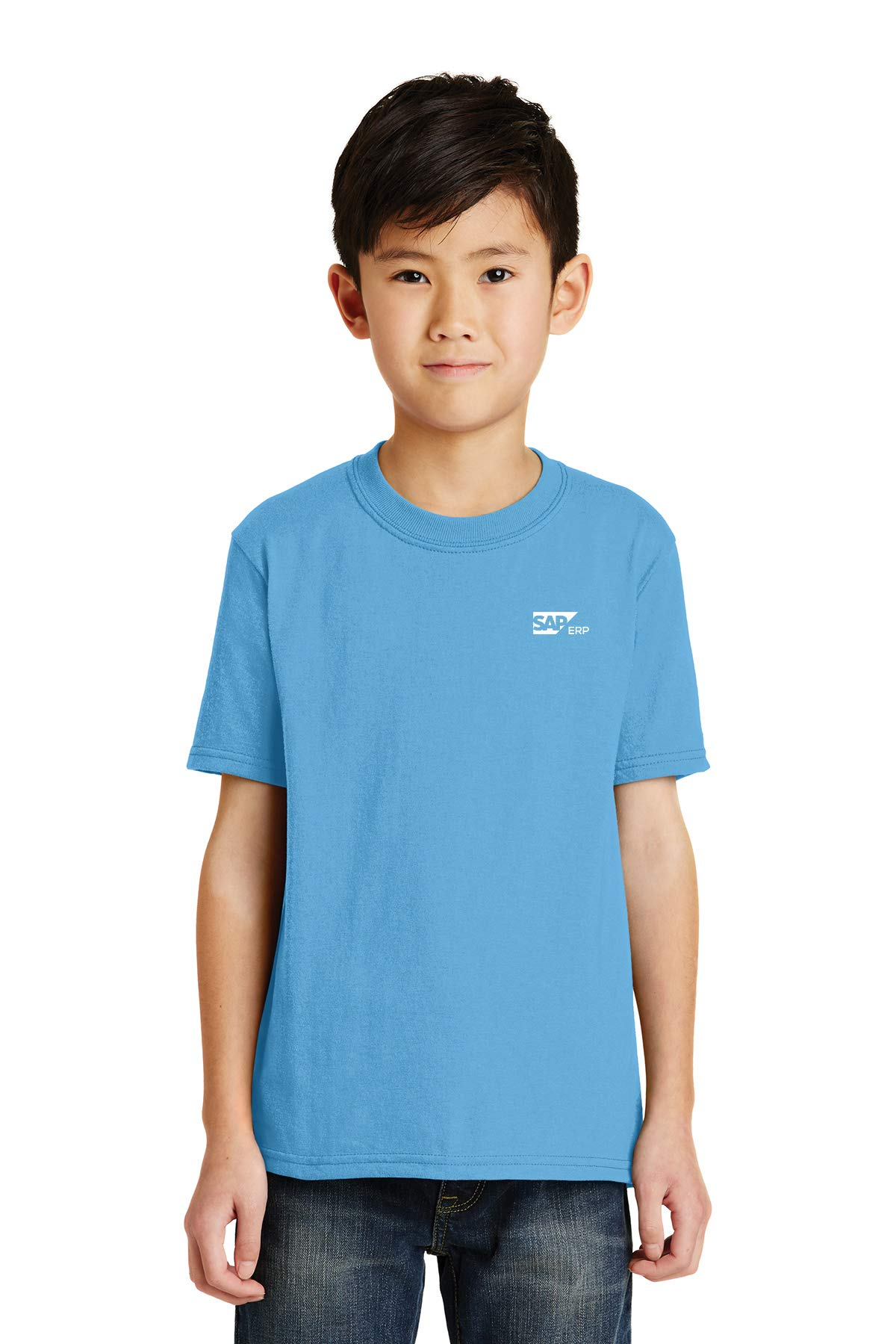 Youth Core Blend Tee - 24 Qty - 7.84 Each - Promotional Tee Your Logo Aquatic Blue