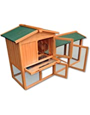 Conejera gallinero caseta roedores animales pequeños corredor abierto jardín granja