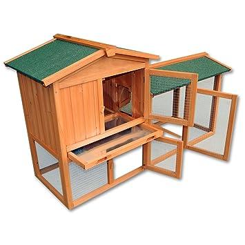 Conejera gallinero caseta roedores animales pequeños corredor abierto jardín granja: Amazon.es: Jardín