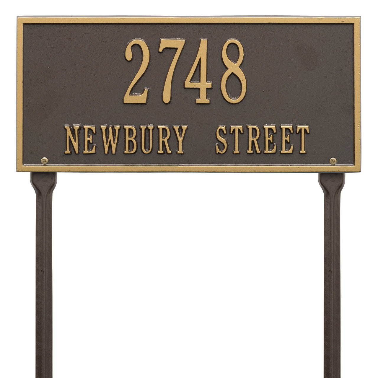 Custom Hartford LAWN Address Plaque 2 Lines 16''W x 7''H by Whitehall