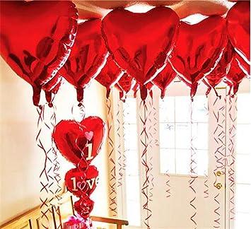 Außergewöhnlich Ximkee 18 Inch Red Heart Foil Helium Balloons(10 PK) Valentines Day Wedding  Engagement