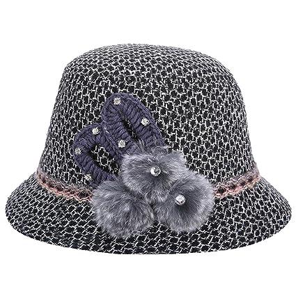 vi. Yo donne Lady secchio cappello invernale caldo berretto a maglia  modello cappello di feltro 4ef4fef83bbd