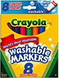 Crayola Washable Markers, Broad Point, Classic Colors, 8/Pack (58-7808) (Pack of 3), Multi