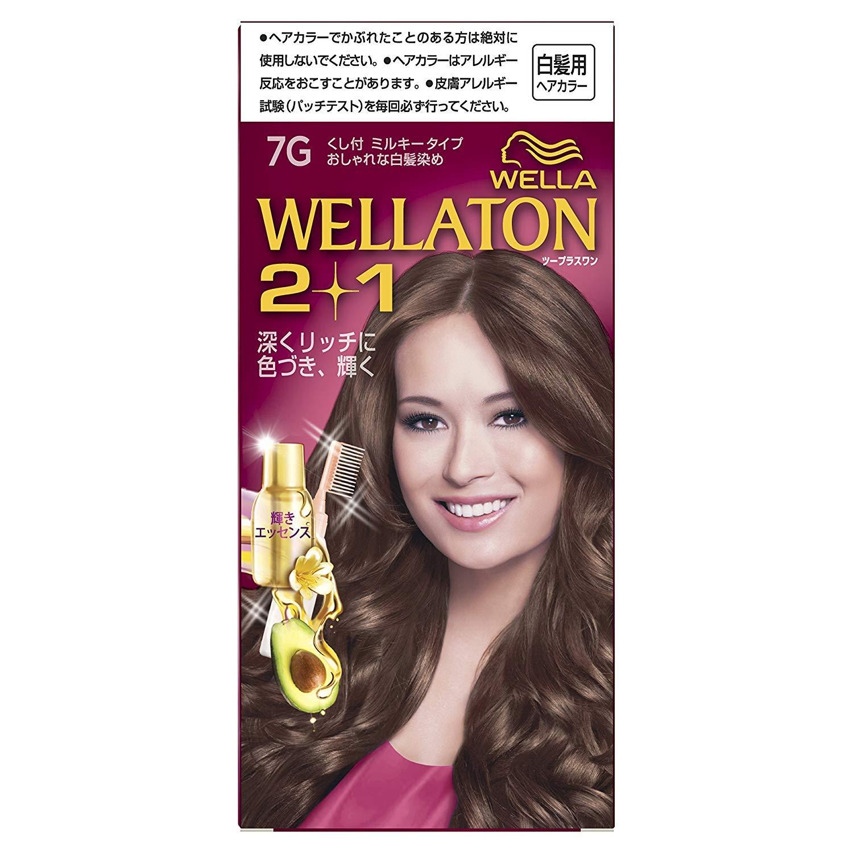 ウエラトーン2+1 白髪染め くし付ミルキータイプ 7G [医薬部外品] ×6個 B07GPVJMH7