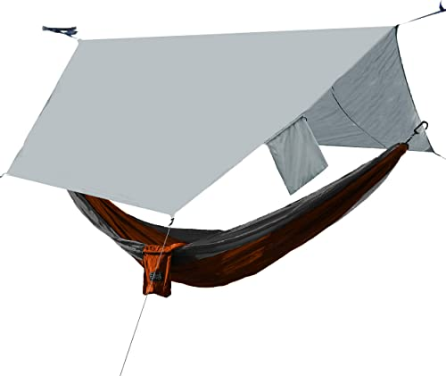 OSAGE RIVER and PahaQue Hammock and Rain Fly Bundle, Includes Tree Straps, Carabiners, and Stuff Sack
