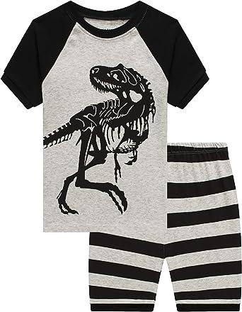Little Boys Pajamas Dinosaur Space Shorts Kids Pjs Summer Sleepwear