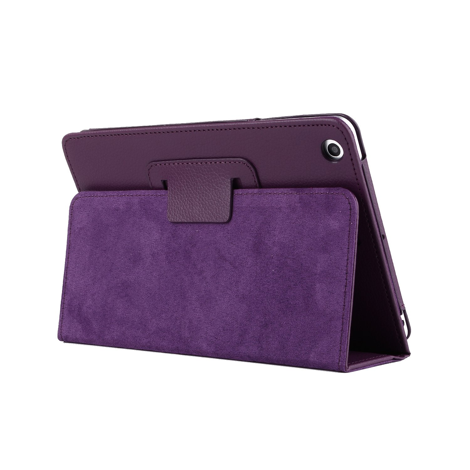 iPad 11 Inch Case, YiMiky Premium PU Leather Book Cover Case Thin and Lightweight Stand Cover Full Body Protection Case Business Style Folio Case for iPad Pro 11 Inch 2018 - Purple