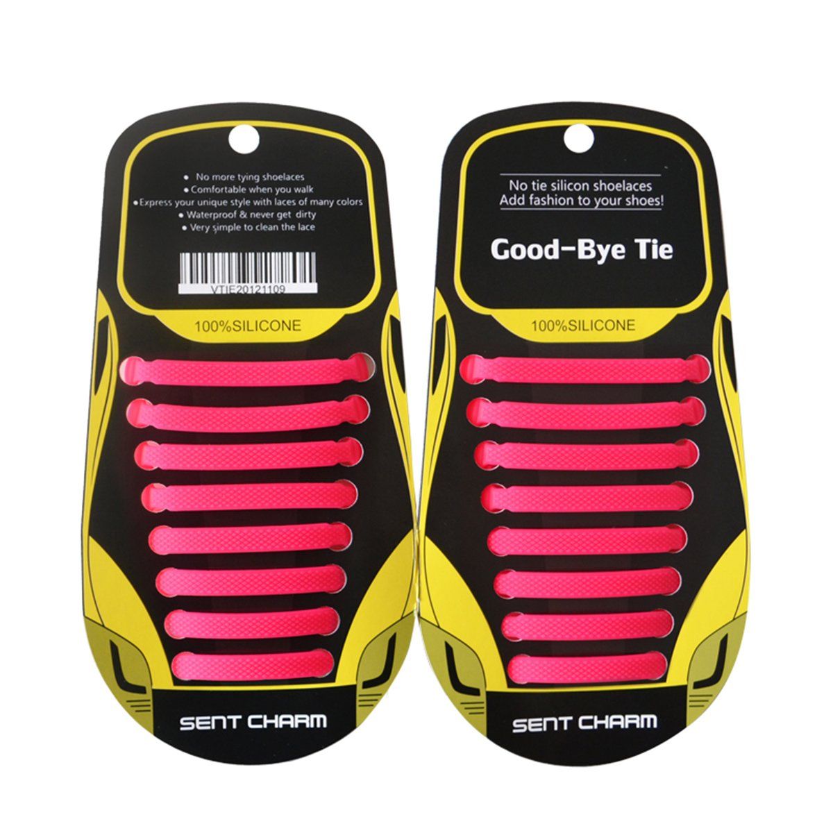 No Tie Shoelaces for Kids and Adults - SunJolly Waterproof & Stretchy Silicone Tieless Shoe Laces - for Athletic & Dress Casual Shoes, Hiking Boots (Pink)