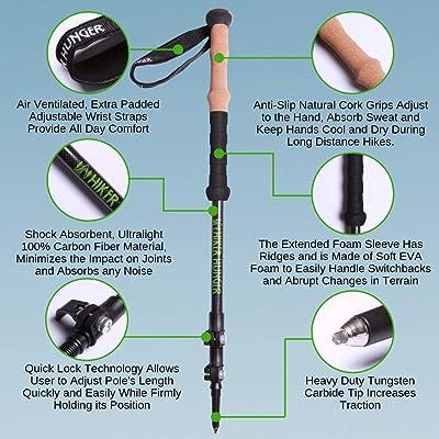 Hiker Hunger Carbon Fiber Trekking Pole 2.0