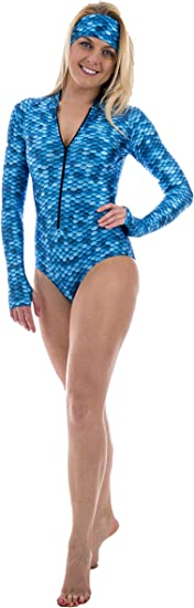 Diving UV Protection for Surfing Slipins DiveSkins Zippered Full Body Diving Skin with Rash Guard Snorkeling Swimming Water Sports